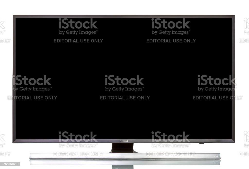 "Samsung 4K UHD JU7000 Series Smart TV - 40"" Class stock photo"
