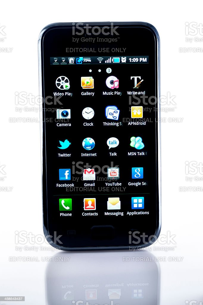 Samsung Android Smart Phone royalty-free stock photo