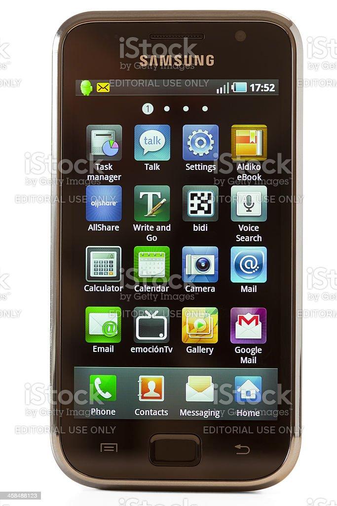 Samsung Galaxy isolated royalty-free stock photo