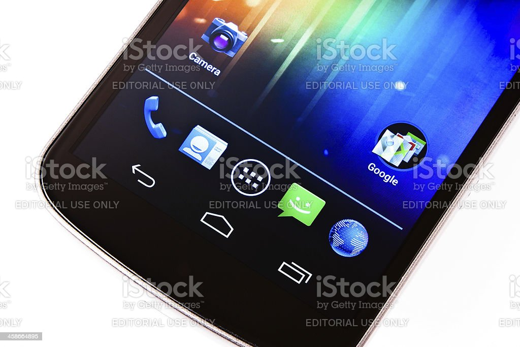 Samsung Galaxy Nexus with Android 4, Google Smartphone stock photo