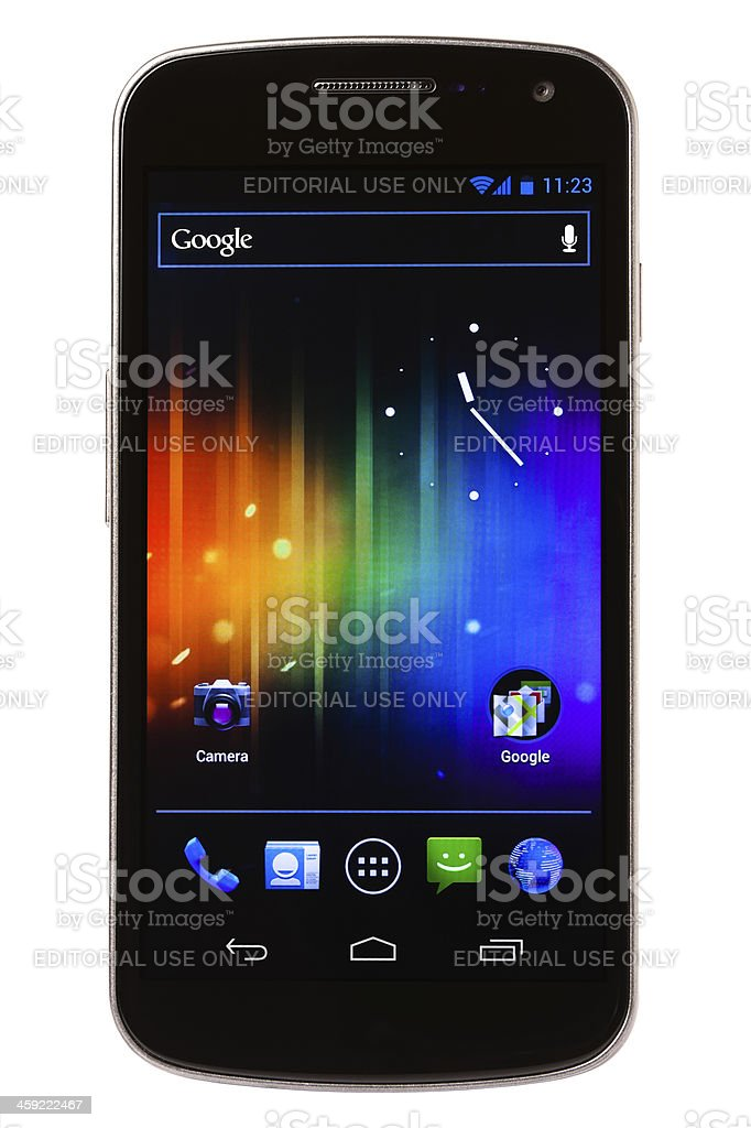 Samsung Galaxy Nexus with Android 4, Google Smartphone royalty-free stock photo