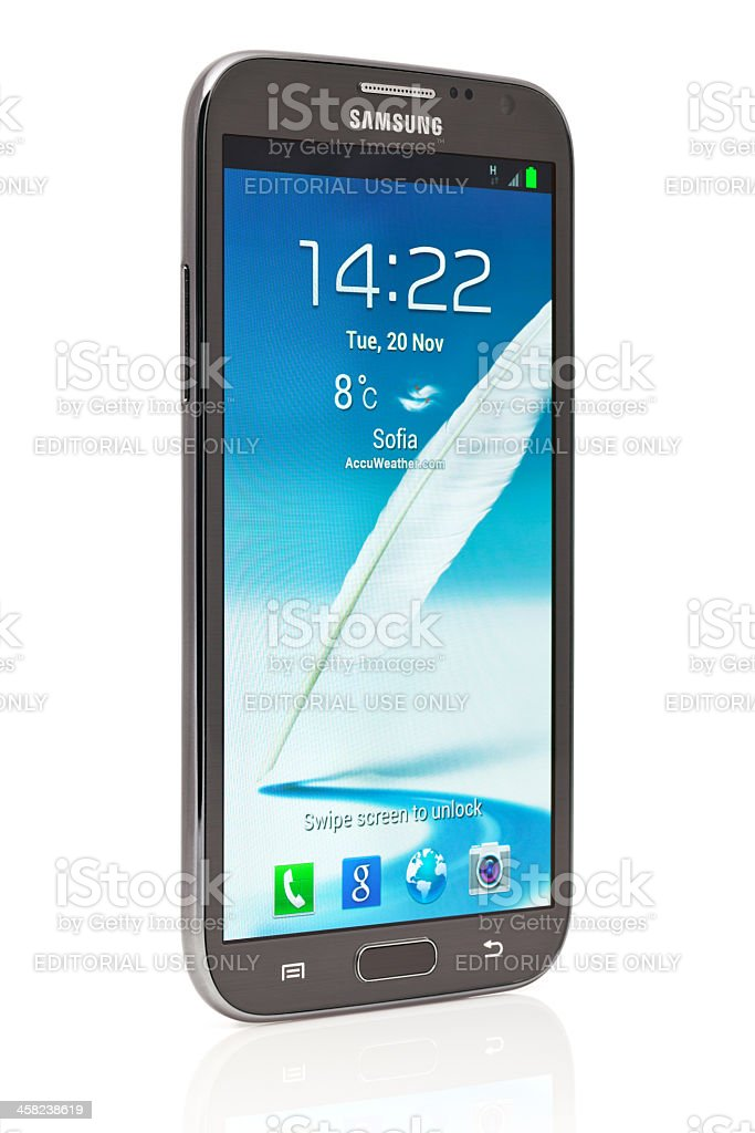 Samsung Galaxy Note 2 stock photo