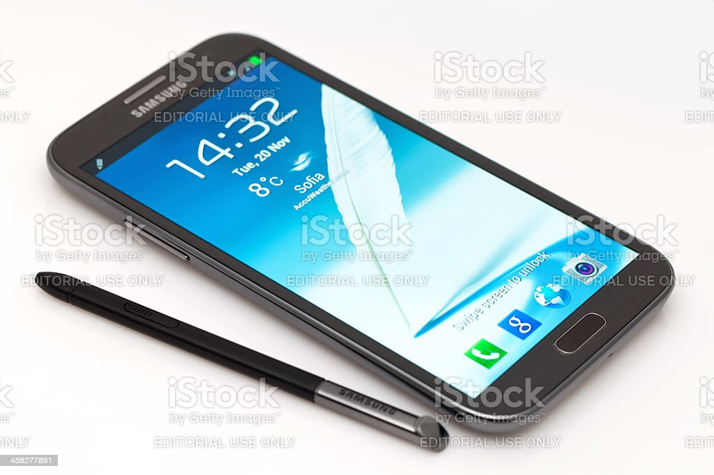 Samsung Galaxy Note 2 royalty-free stock photo