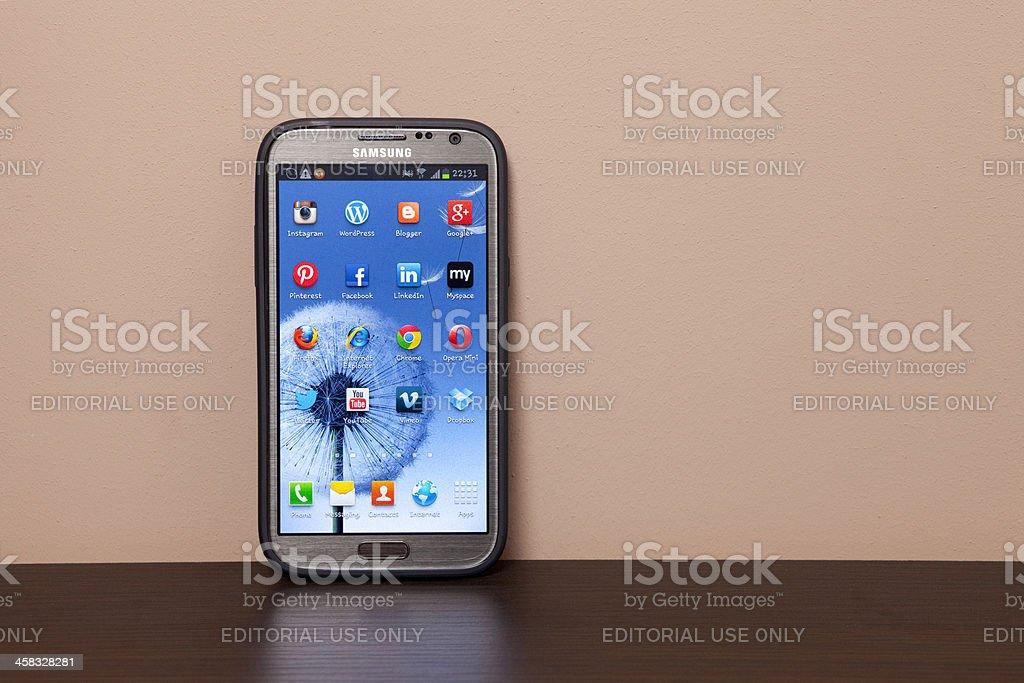 Samsung Galaxy Note 2 XXXL stock photo