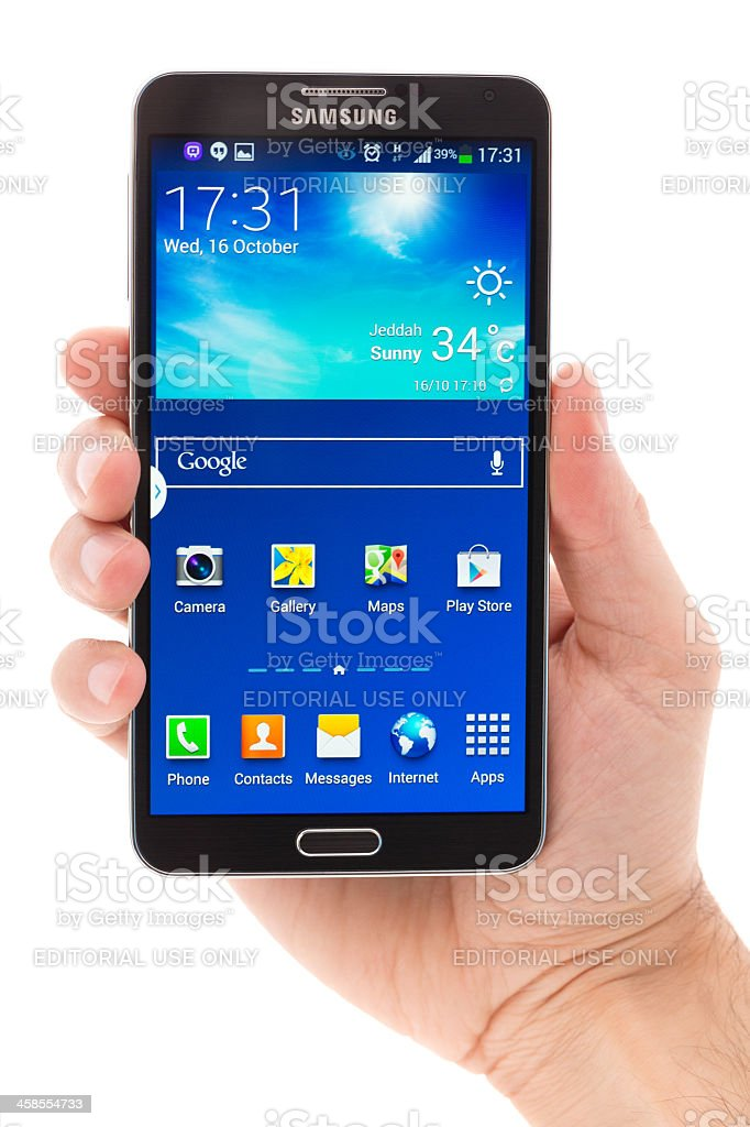 Samsung Galaxy Note 3 stock photo
