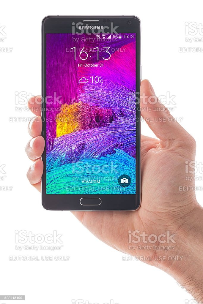 Samsung Galaxy Note 4 Smart Phone stock photo