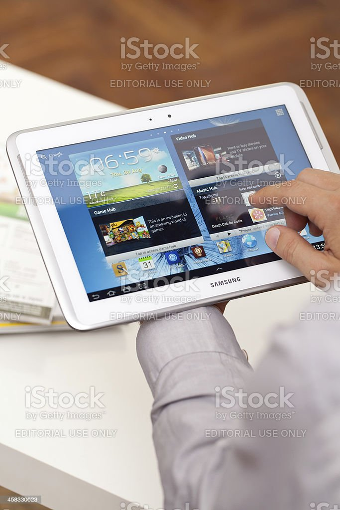 Samsung Galaxy Note N8000, 10.1' stock photo