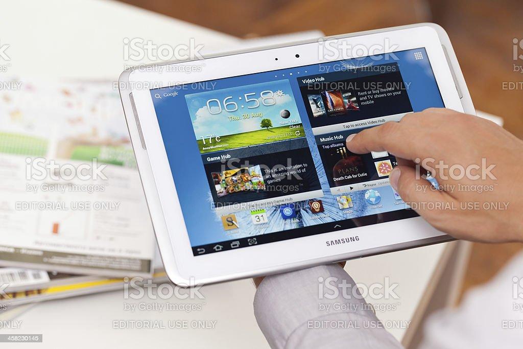 Samsung Galaxy Note royalty-free stock photo