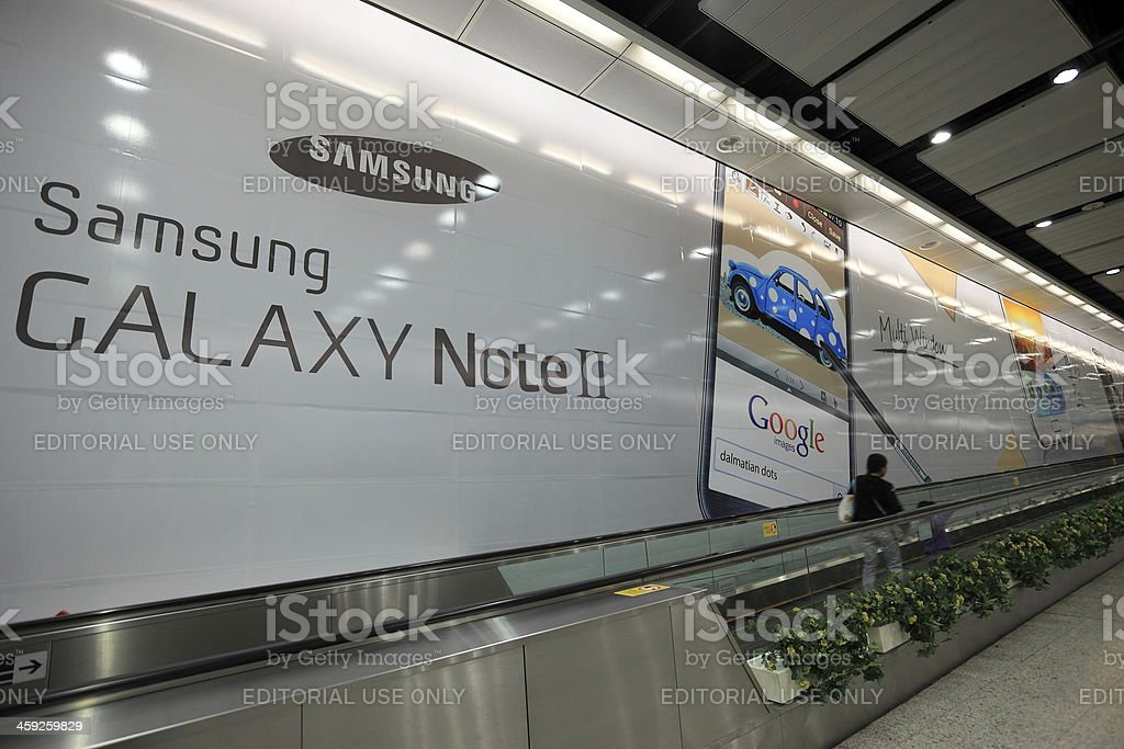 Samsung GALAXY NoteII poster stock photo
