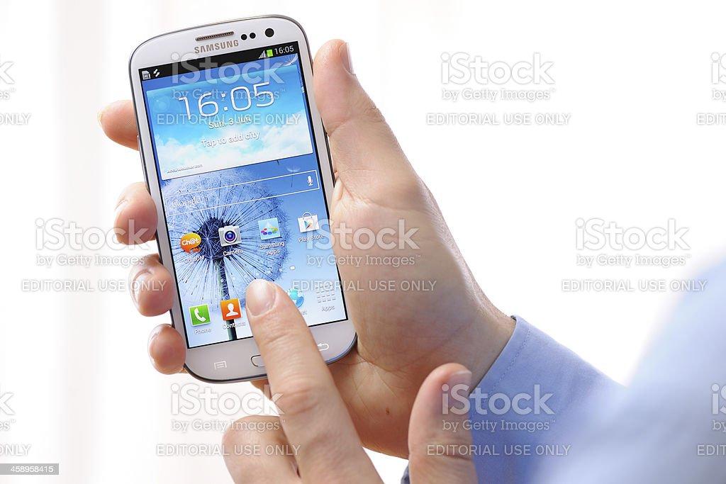 Samsung Galaxy S 3 royalty-free stock photo