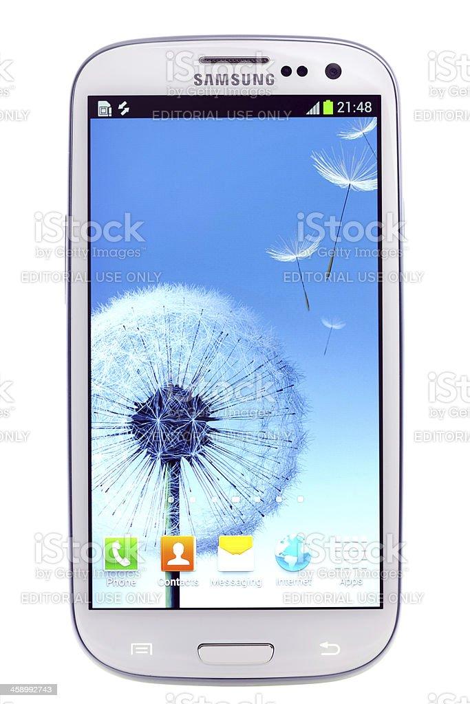 Samsung Galaxy S 3 stock photo