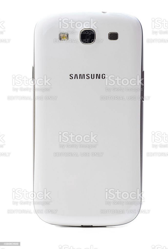 Samsung Galaxy S3 Back Side stock photo