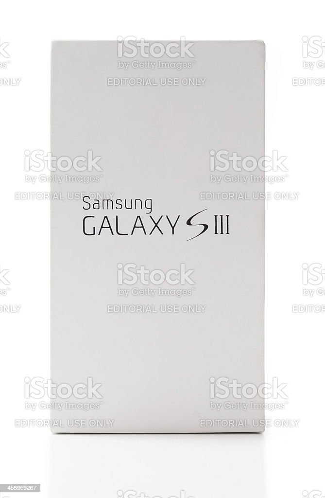 Samsung Galaxy S3 Packaging Box stock photo