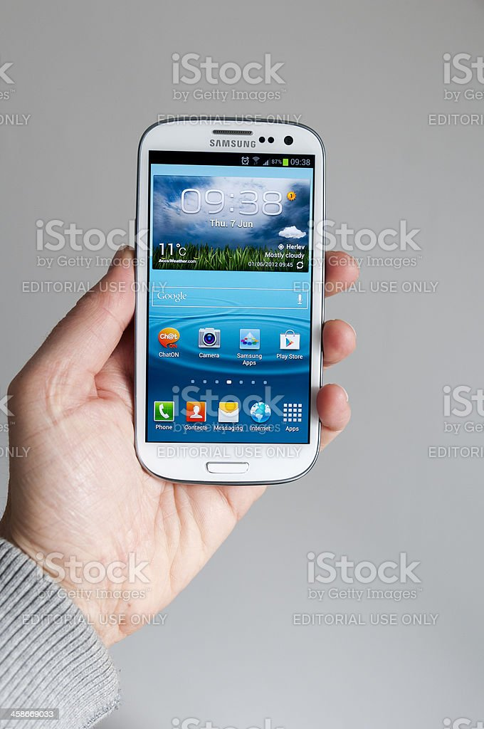 Samsung Galaxy S3 royalty-free stock photo