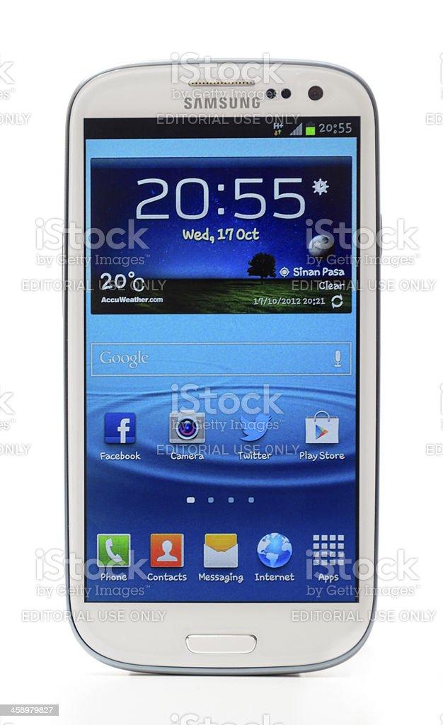 Samsung Galaxy S3 stock photo
