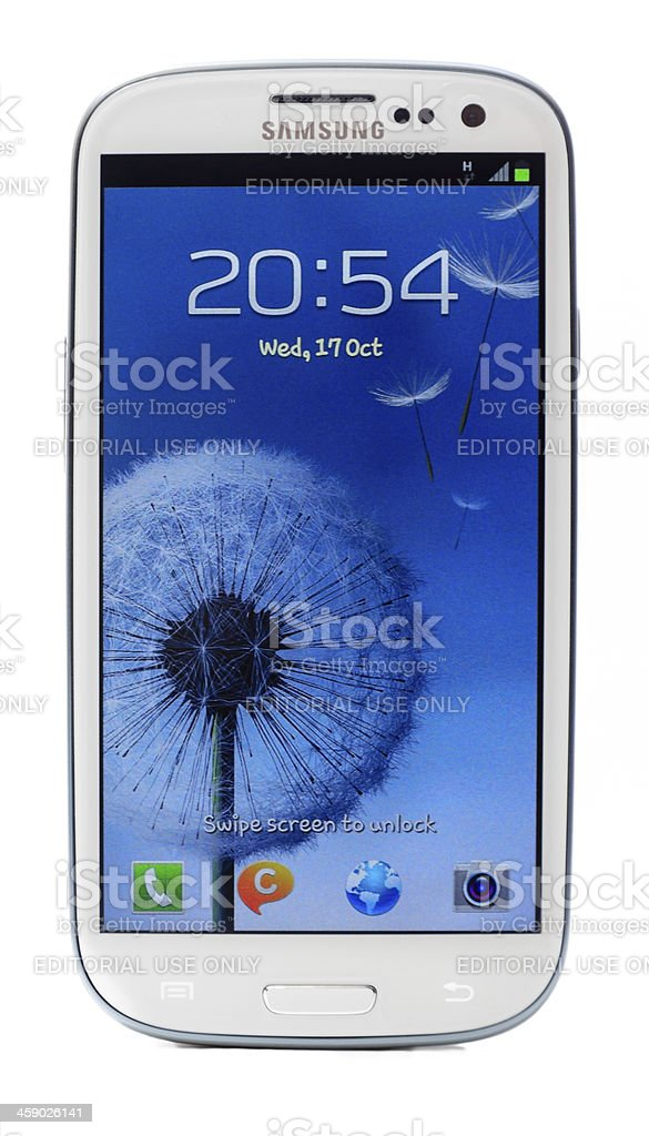 Samsung Galaxy S3 stock photo