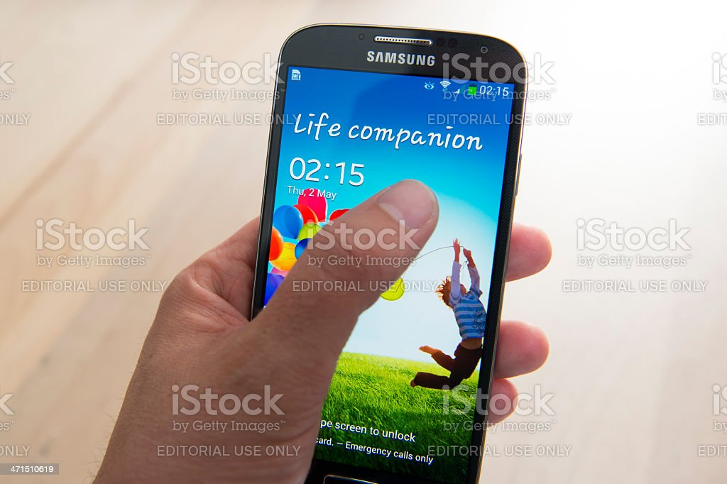 Samsung Galaxy S4 royalty-free stock photo