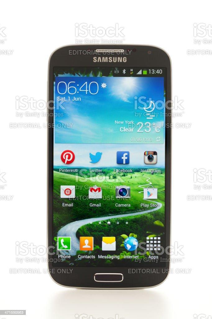 Samsung Galaxy S4 stock photo