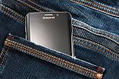 Varna, Bulgaria - October, 04,2016:Samsung Galaxy S6 Edge+ smartphone