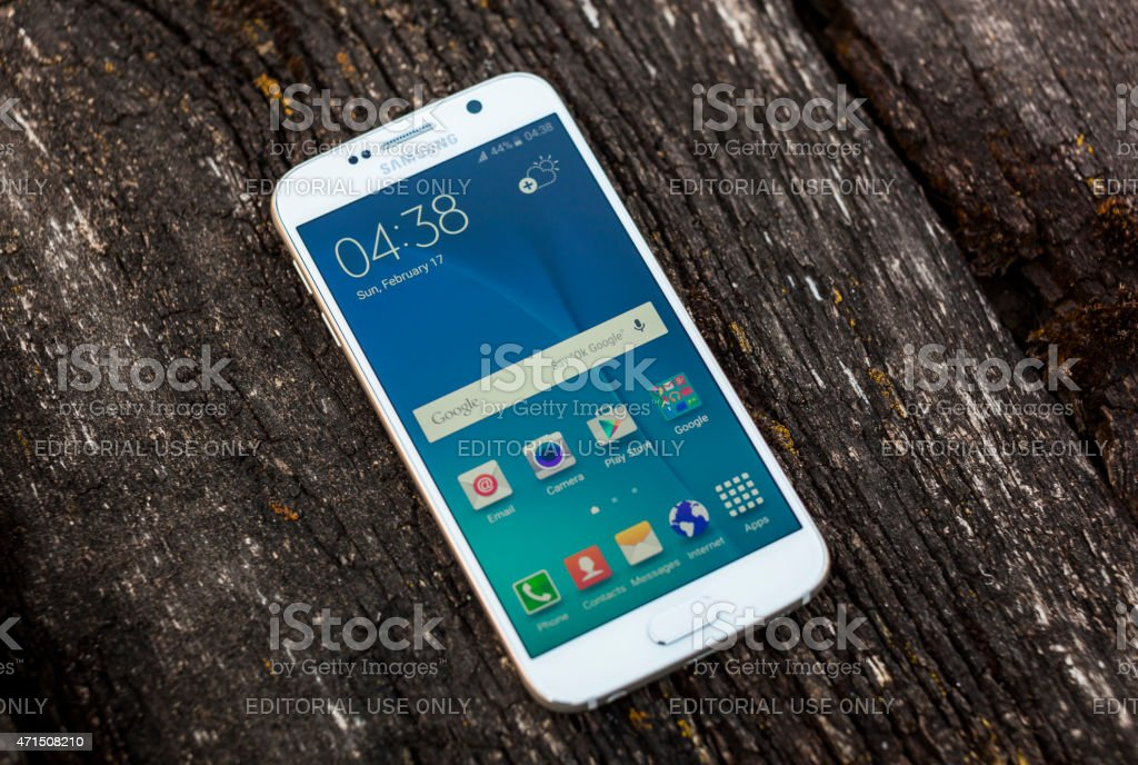 Samsung Galaxy S6 stock photo