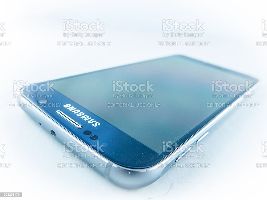 Samsung Galaxy S7 isolated on white stock photo