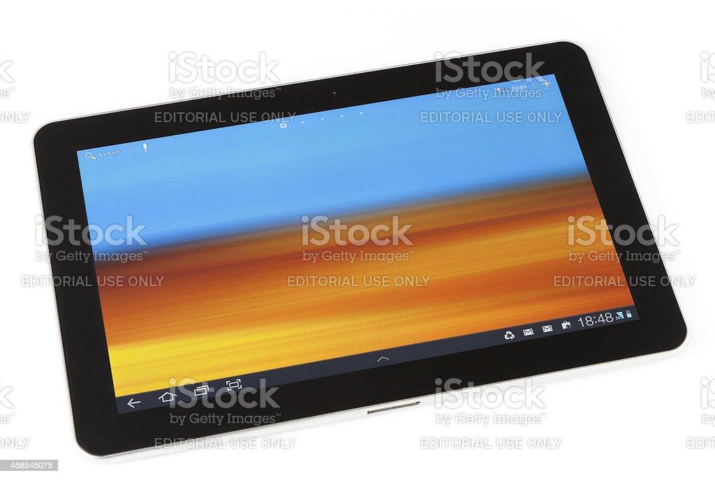 Samsung Galaxy Tab 10.1 stock photo