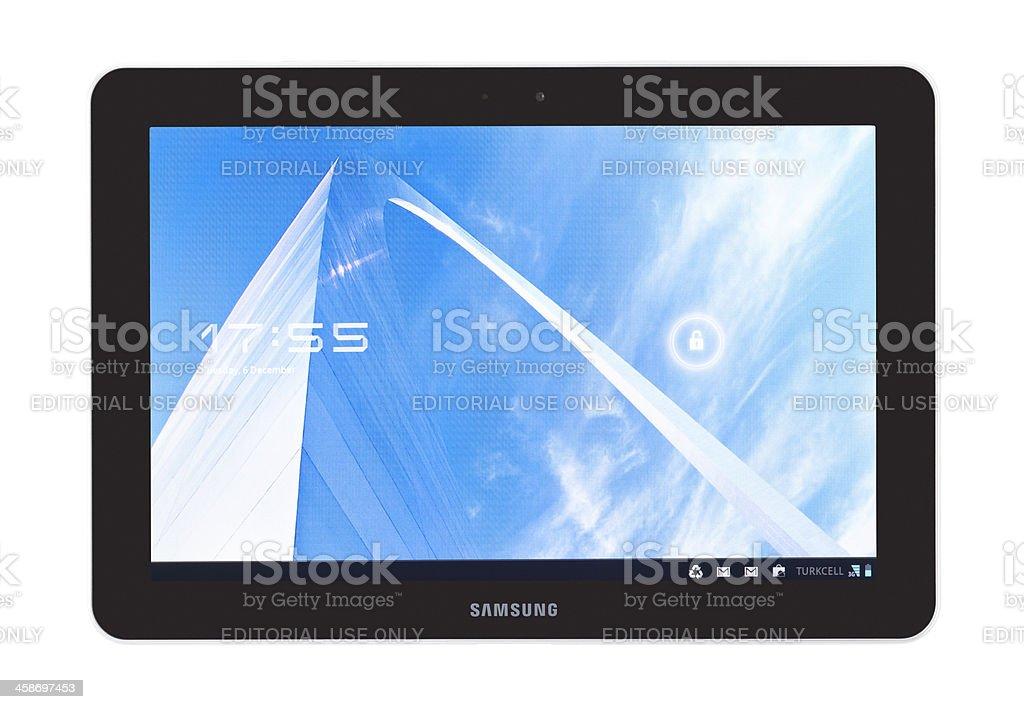 Samsung Galaxy Tab 10.1 royalty-free stock photo