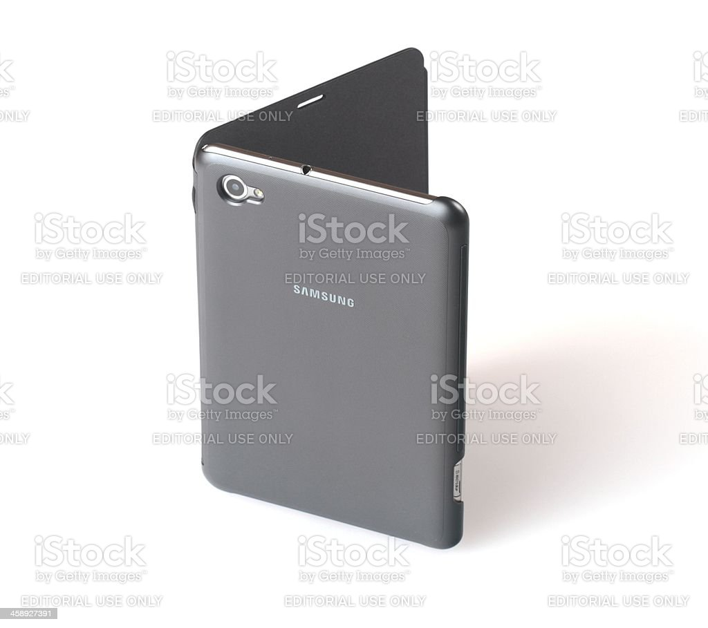 Samsung Galaxy Tab 7.7 Book Cover royalty-free stock photo