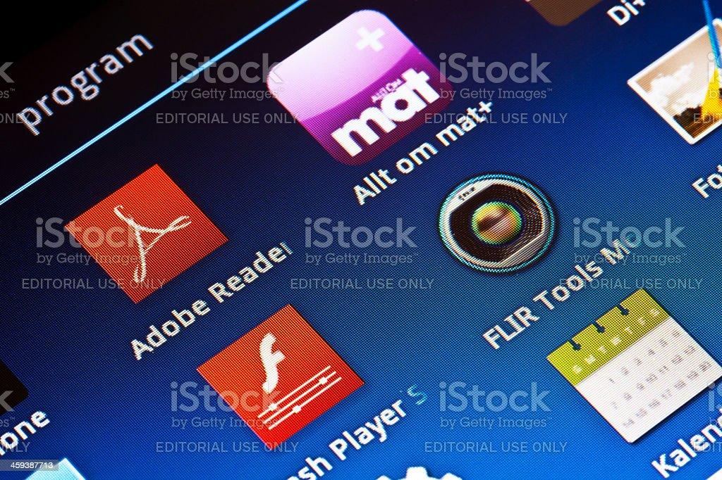 Samsung Galaxy Tab Close-Up royalty-free stock photo