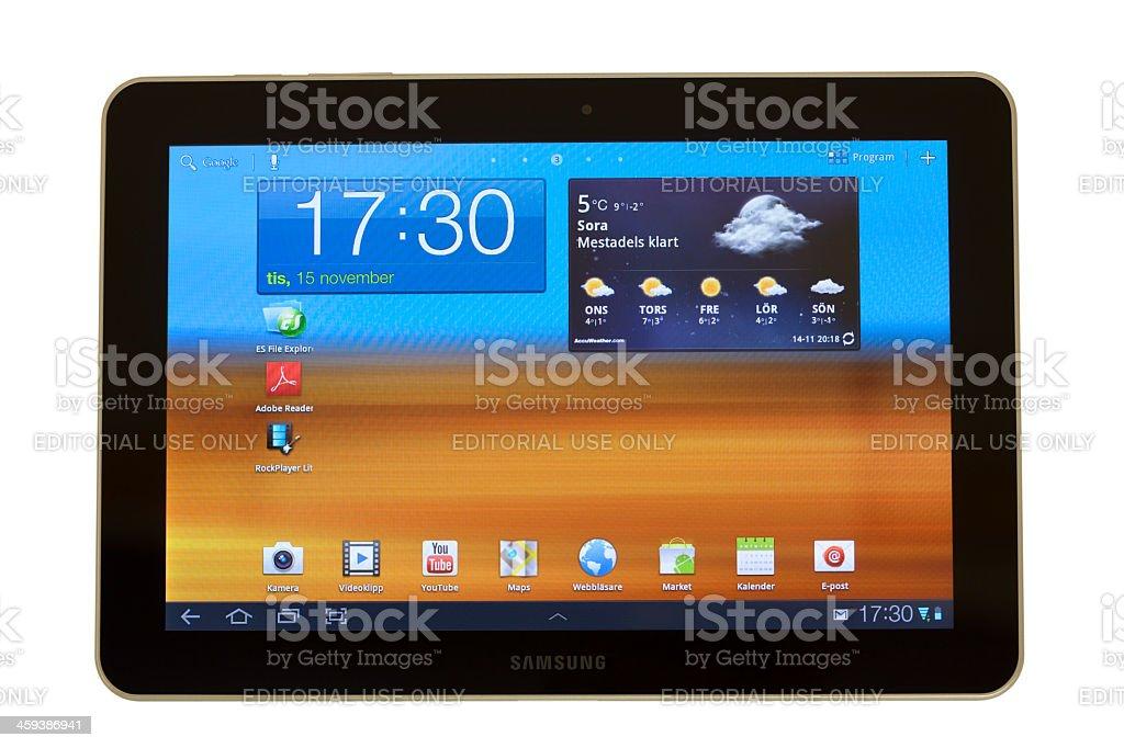 Samsung Galaxy Tab stock photo