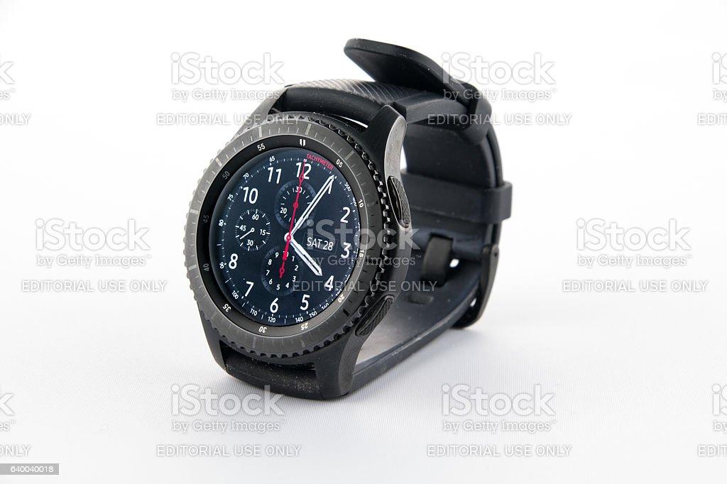 Samsung Gear S3 smart watch stock photo