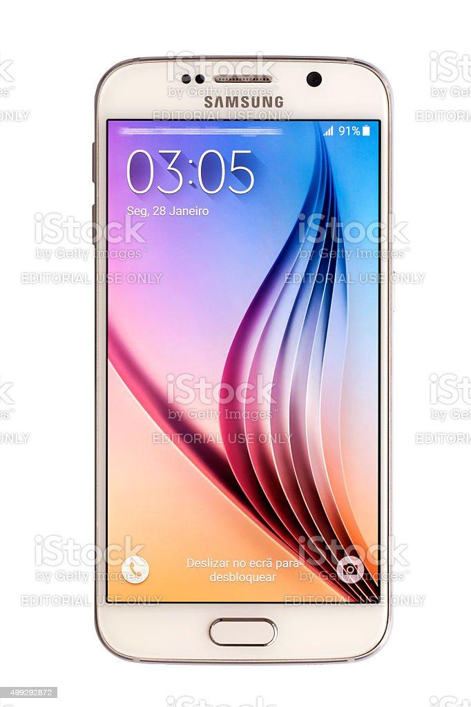 Samsung S6 (Porteque Language) stock photo