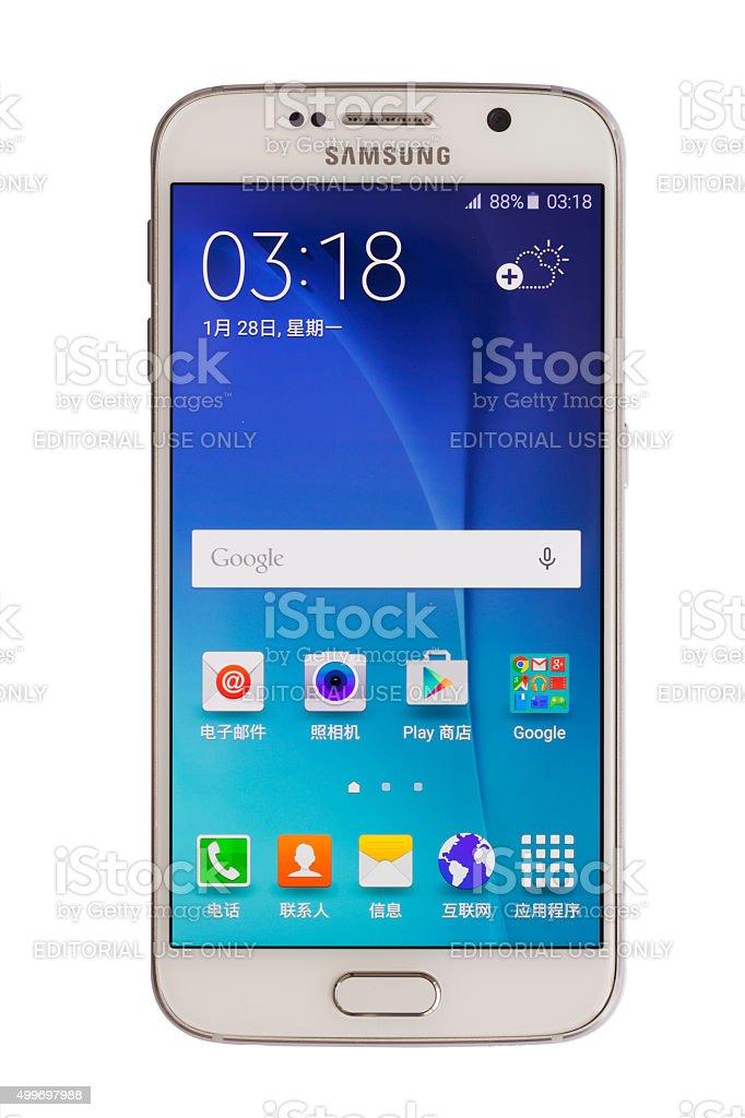 Samsung S6 (Chinese Language) stock photo