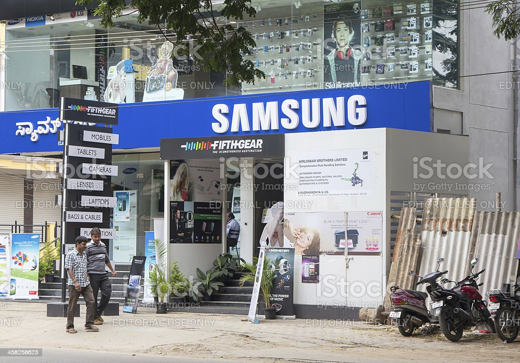Samsung store in Bangalore royalty-free stock photo