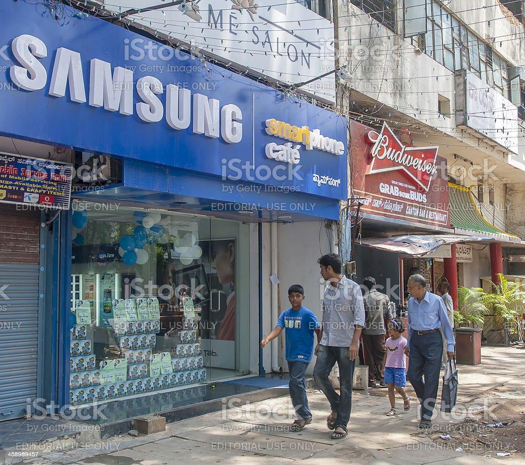 Samsung store, India royalty-free stock photo