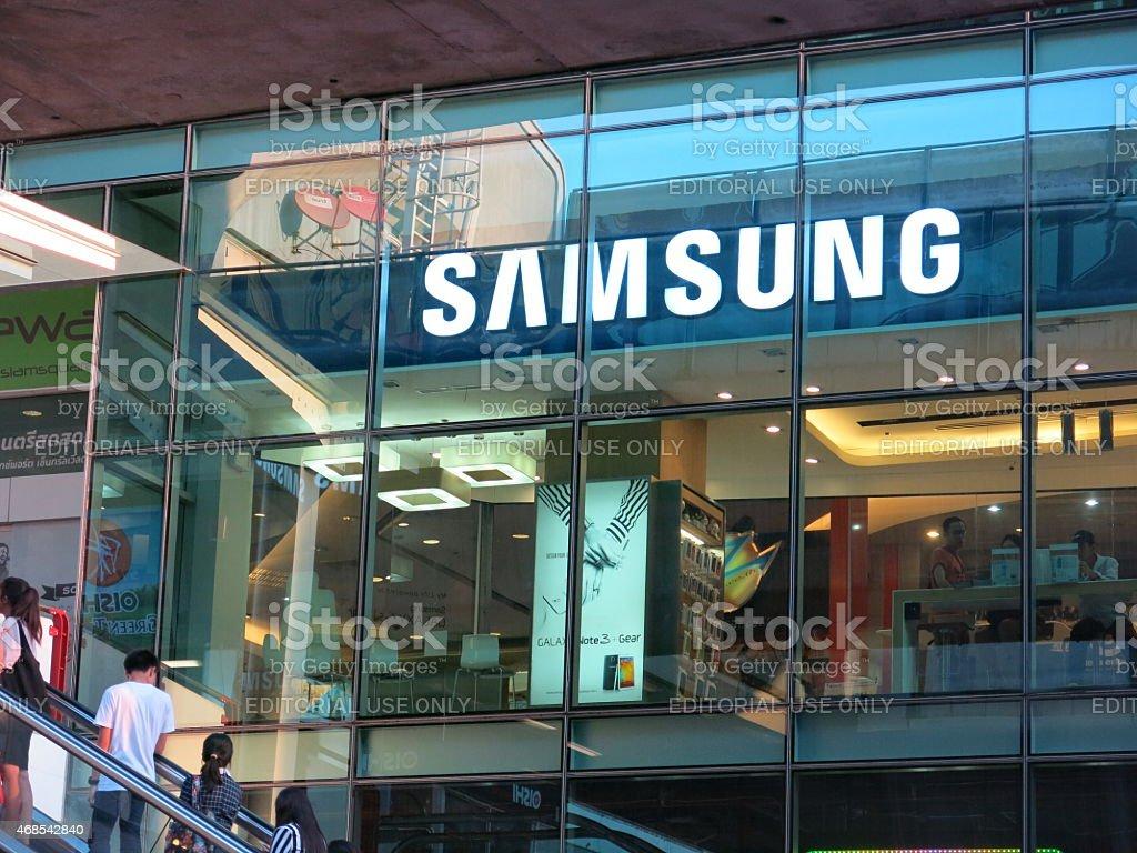 Samsung store, Thailand stock photo