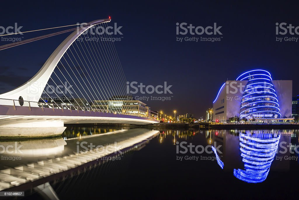 Samuel Beckett Bridge and Convention Centre Dublin stock photo