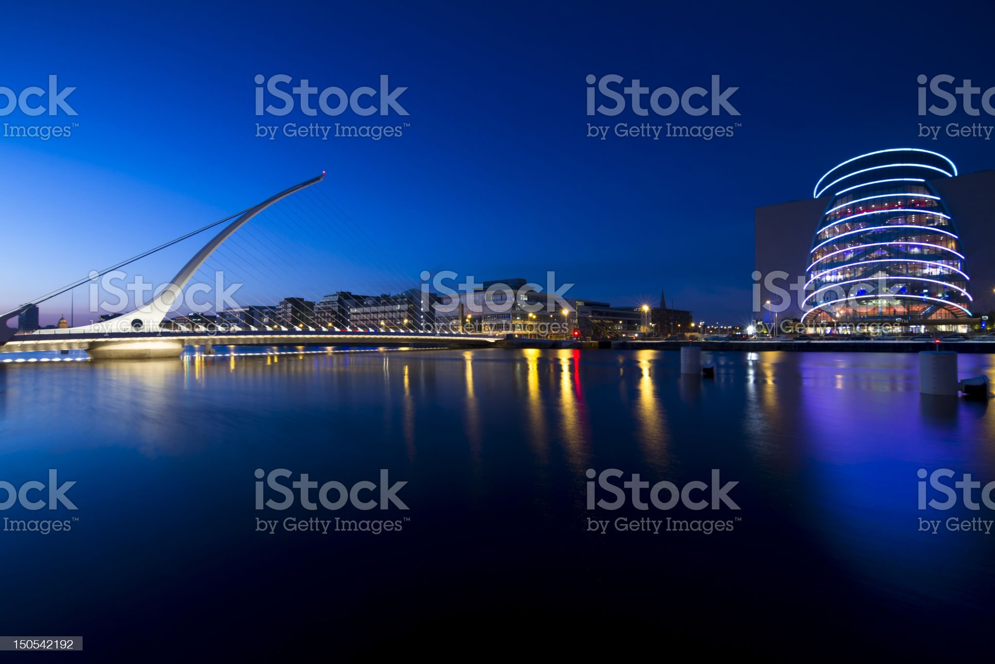 Samuel Beckett bridge royalty-free stock photo