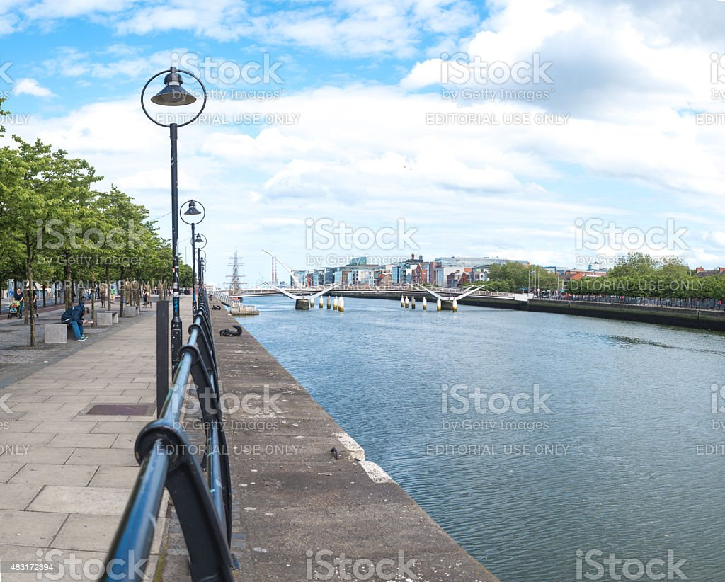 Samuel Beckett Bridge,River Liffey, Dublin stock photo