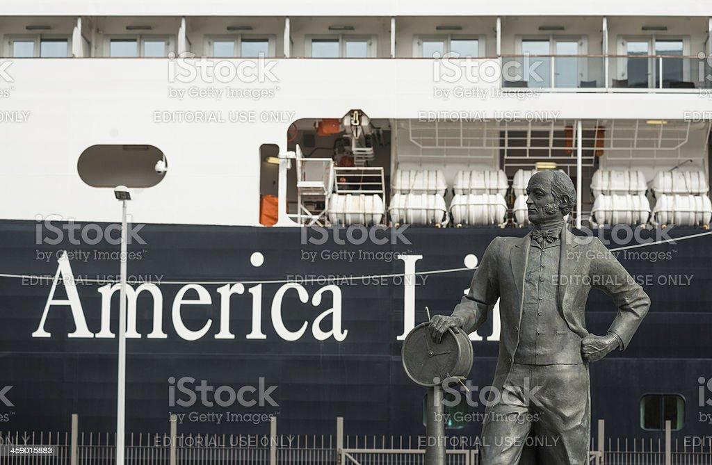 Samuel Cunard Statue royalty-free stock photo