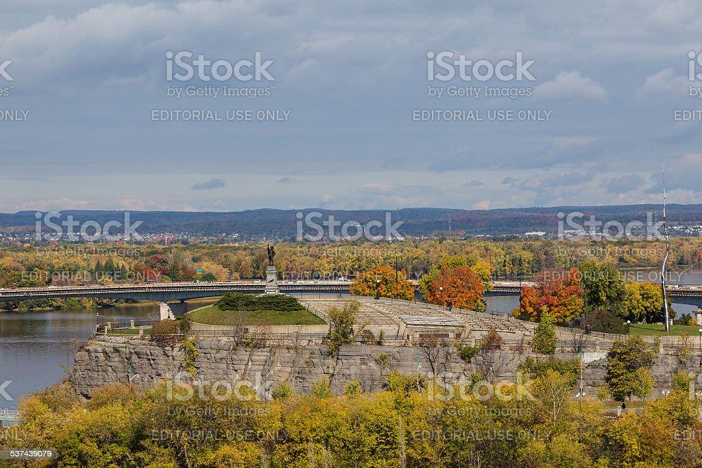 Samuel de Champlain Monument stock photo