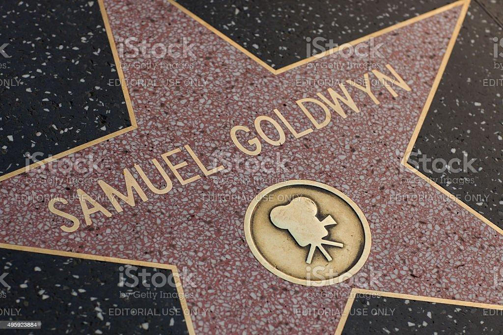 Samuel Goldwyn star on the Hollywood Walk of Fame stock photo