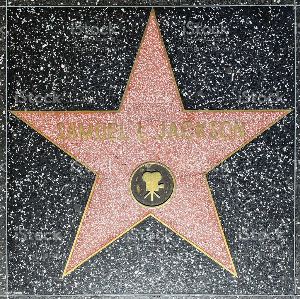 Samuel L Jacksons star on Hollywood Walk of Fame royalty-free stock photo