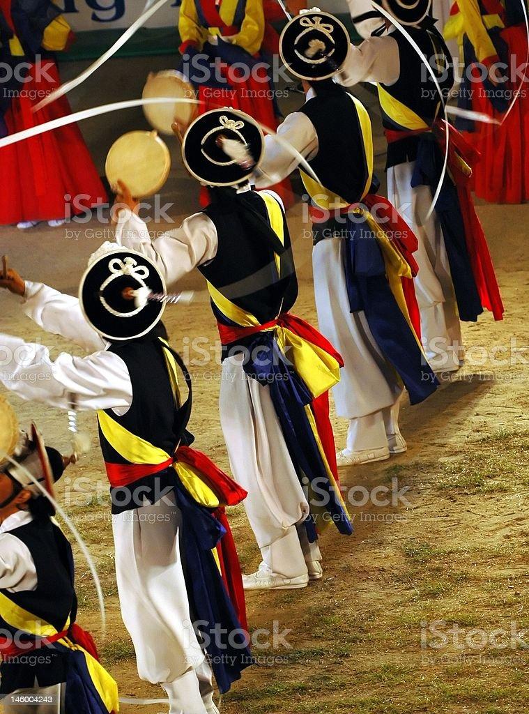 Samulnori dancers royalty-free stock photo