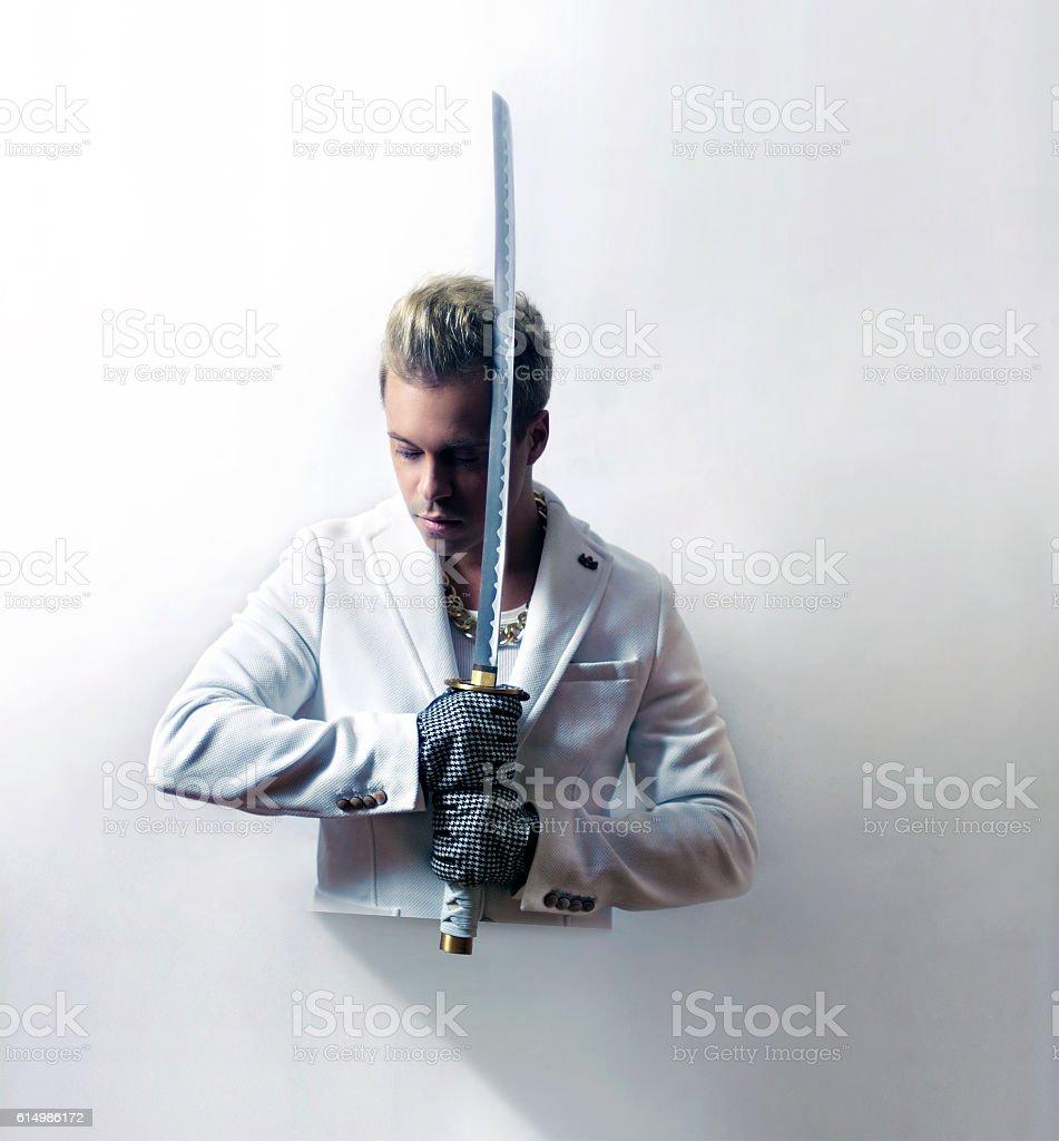 Samurai actor stock photo