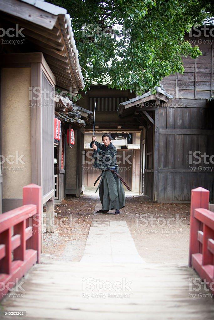 Samurai Master stock photo