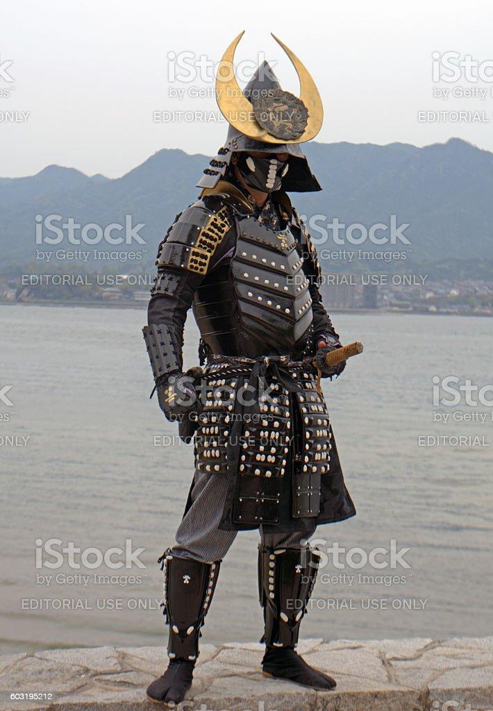 Samurai, Miyajima, Japan stock photo