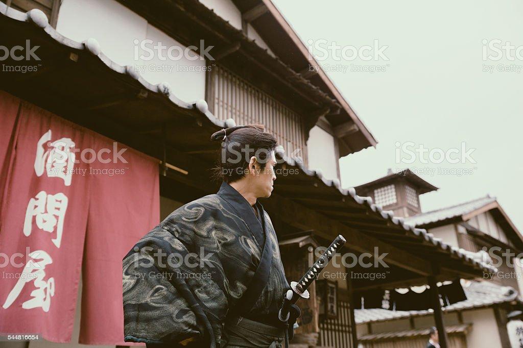 Samurai Ninja ready for action stock photo