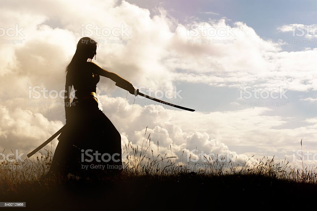 Samurai stock photo