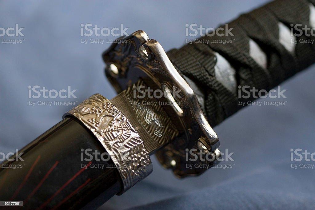Samurai Sword (Macro) royalty-free stock photo